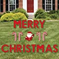 Big Dot of Happiness Merry Christmas - Yard Sign Outdoor Lawn Decorations - Christmas Yard Signs