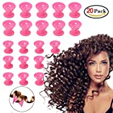 hair rollers for natural hair - 20 Pcs Hair Rollers, Hair Style Curling Tools Accessories, No Heat No Damage to Hair, Pink Magic Silicone Curlers for Women, Girl, Ladies by GCWL
