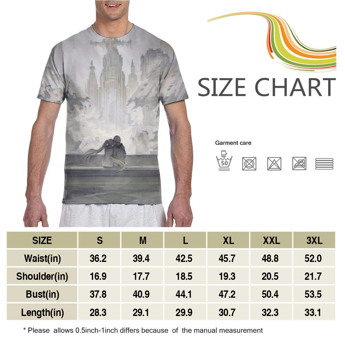 Blood Blockade Battlefront-William and Mary Anime Mens Two Side Print Polyester Short Sleeve Shirt