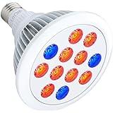 Litom Grow Lights, 36W Plant Growth Lights E27 Bulbs for Indoor Garden Hydropoics Greenhouse Organic