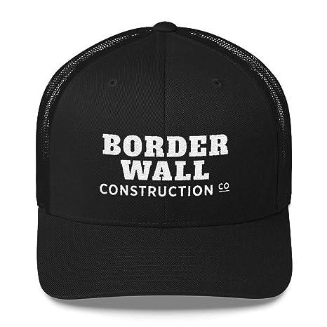 769468ad73bc6 Amazon.com   Donald Trump Border Wall Construction Co Trucker Cap MAGA Hat    Sports   Outdoors