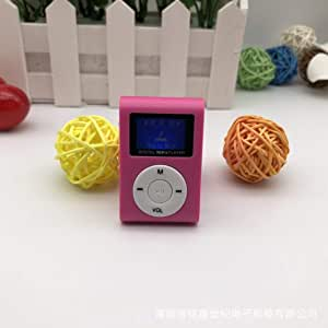 Bemodified Small Size Portable MP3 Player Mini LCD Screen MP3 Player Music Player Support 32GB TF Card Best Gift - Pink