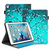 iPad Pro 9.7 Case, iTrendz Book Folio - [Wallet][Card Slot] Slim Flip Leather Case Stand Cover For iPad Pro 9.7 inch (2016 Release),Cherry Blossoms