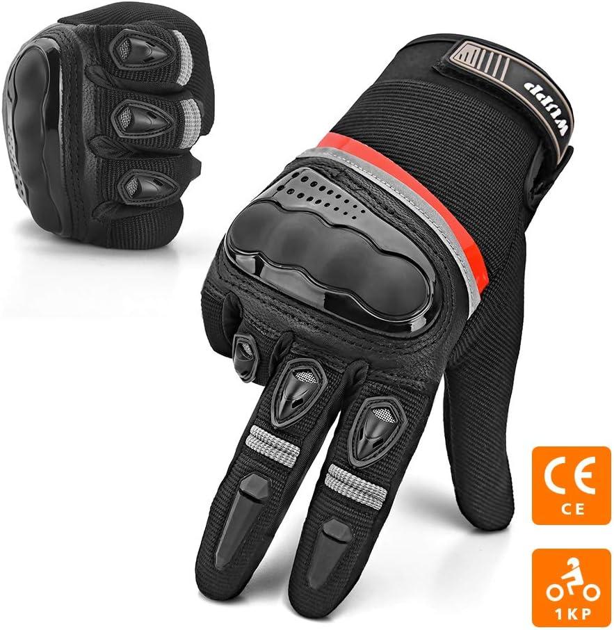 Confortable Gant Unisexe Anti-Usure Gants Moto et Scooter/|/Gant Moto Homologu/é CE Obligatoire /Ét/é A/ér/é et L/éger Bonne Sensibil /Écran Tactile Gant Respirable Protection Coque Carbonne Anti-Choc