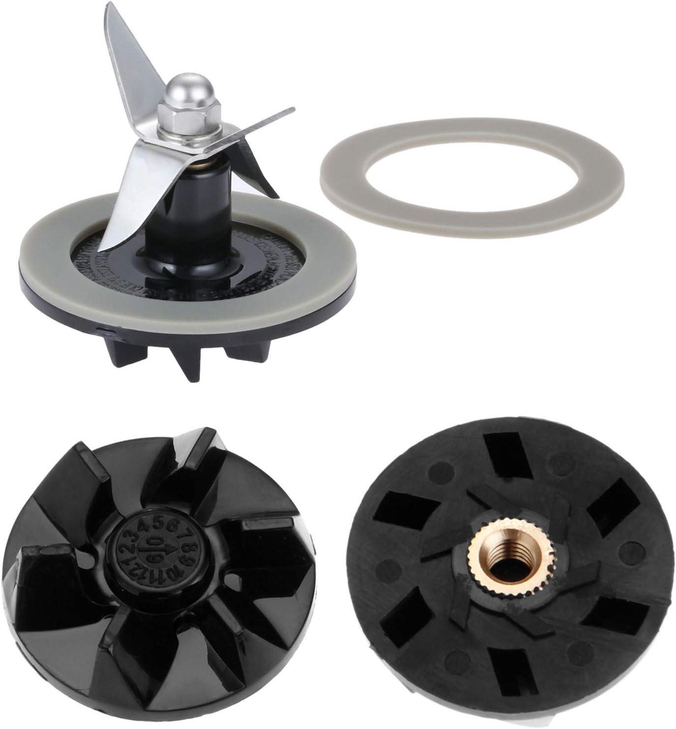 SPB-456-2 Blade Cutter Gasket Rubber Sealing O-ring with SPB7-20TXN Motor Driver Gear Clutch, Replacement for Cuisinart Blenders # BFP703 BFP-703 BFP703B BFP-703CH SPB7 SPB-7BK CB8 CB9 BFP-703