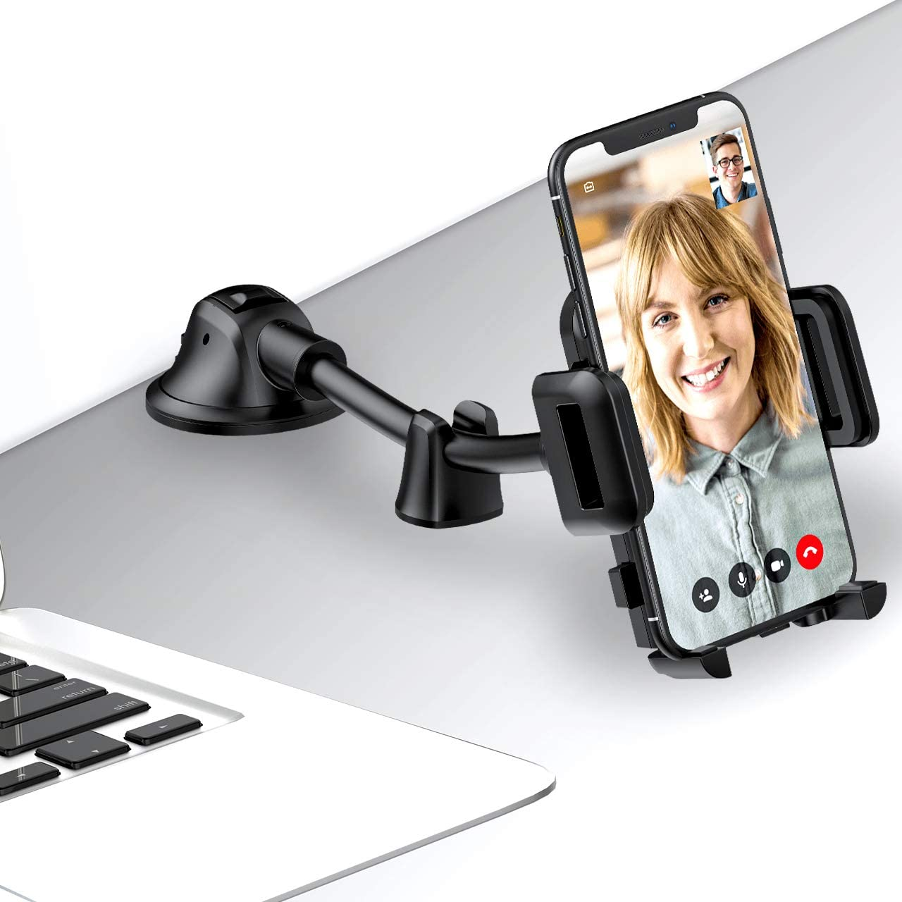 Strong Sticky Gel Suction Cup Mpow Car Phone Mount Anti-Shake Stabilizer Compatible iPhone 11 pro//11 pro max//XS//XR//X//8//7,Galaxy Dashboard Windshield Car Phone Holder with Long Arm Moto and More