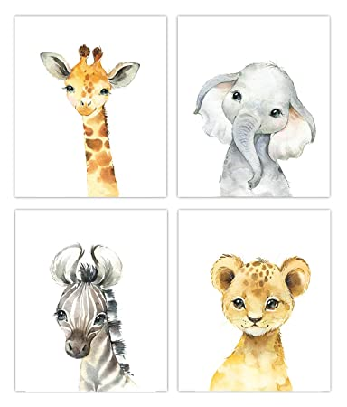 Woodland Animals Nursery Decor Watercolor Art Option 2 8x10 Prints Set of 6 UNFRAMED