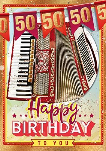 Carte danniversaire Bentino XL avec fonction AKcordeon Carte de v/œux danniversaire /« Happy Birthday /» avec enveloppe.