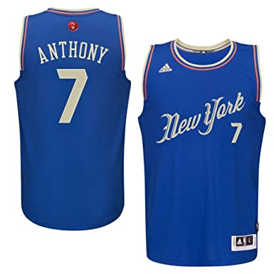 99acedf5ac4 Carmelo Anthony New York Knicks  7 Blue Youth X-Mas Replica Jersey (Large