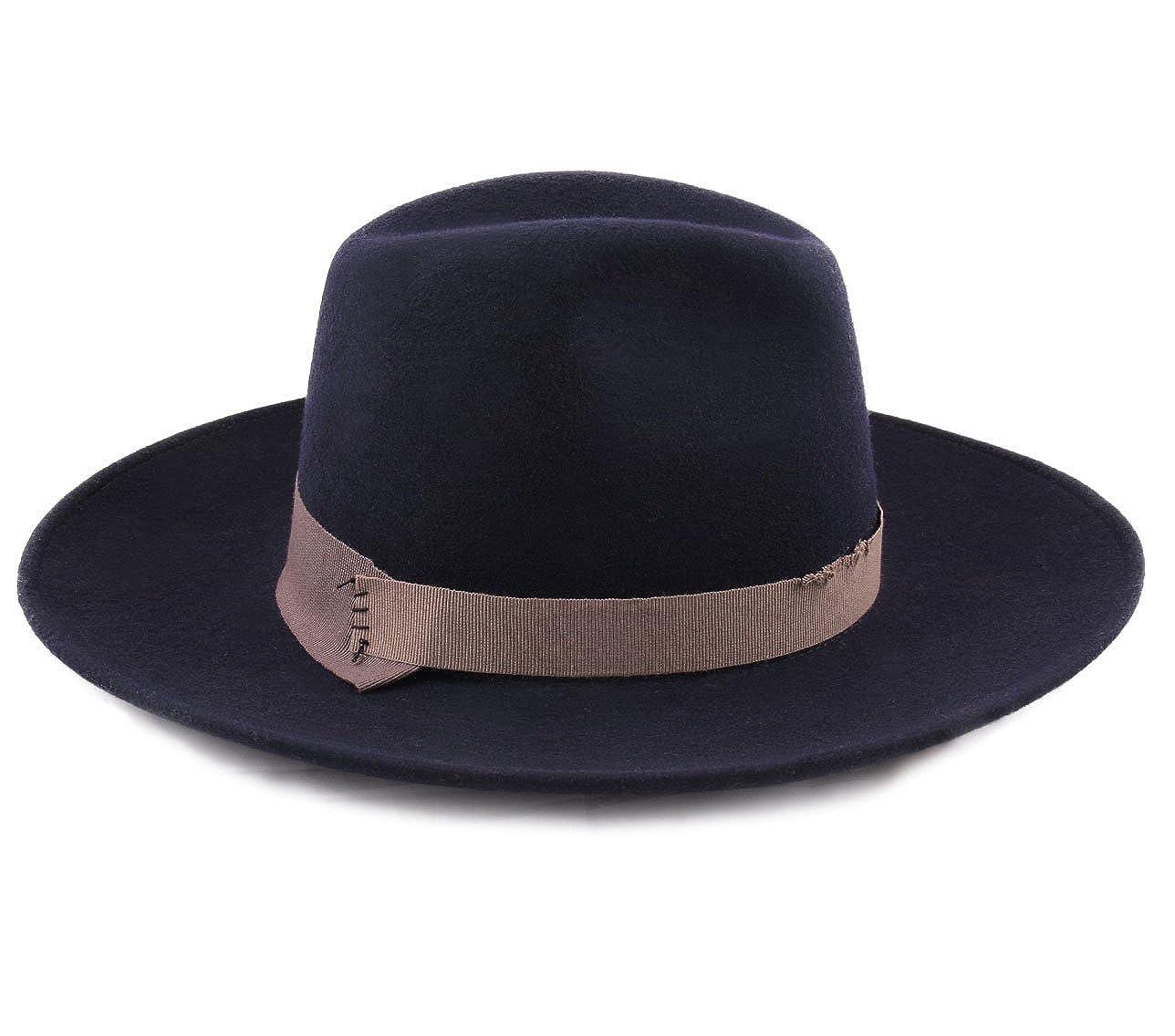 Marky LEnt/êt/é Wool Felt Fedora Hat Packable Water Repellent Wide Brim