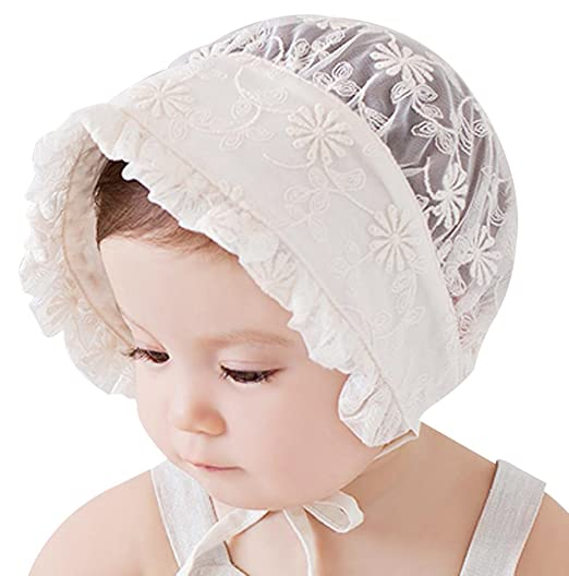 Victorian Kids Costumes & Shoes- Girls, Boys, Baby, Toddler Little Kids Toddlers Classic Breathable Sun Protection Hat with Eyelet Lace Trimmed $9.99 AT vintagedancer.com
