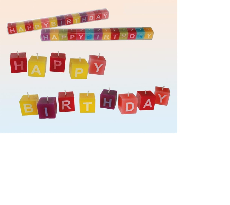 Stylex® fun 13teilig Geburtstagkerzen Set 10721 happy birthday