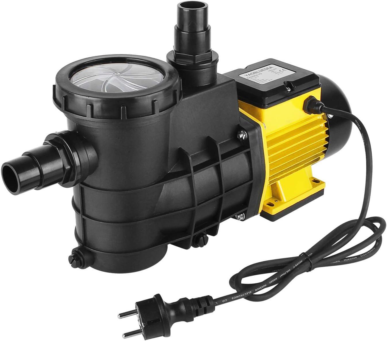 YAOBLUESEA Bomba de circulación de Bomba de Piscina Bomba de Piscina Filtro 5000L / h, para circulación y filtración