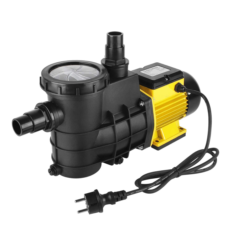 IPX4 YAOBLUESEA Pompe de Circulation de Pompe de Pompe de Piscine Filtrant Le Filtre 5000L//h 200W
