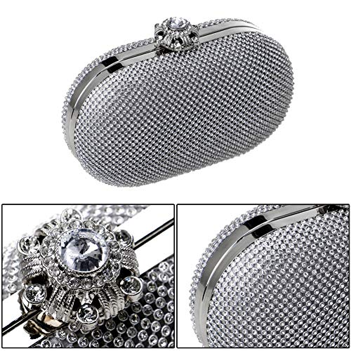Chain Prom Evening Wallet Bag Bags Dress Clutches Wedding Silver Ladies Womens Purse 1qvwaW0Y