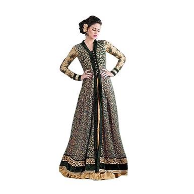 Indian Bollywood Pakistani Anarkali Salwar Suit Wedding Eid Muslim Women Dress Sexy Blouse Bra Punjabi
