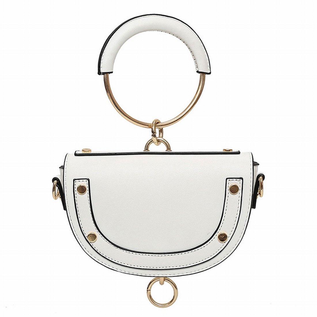 Fashion Satteltasche rund Handtasche Schultertasche Messenger Bag