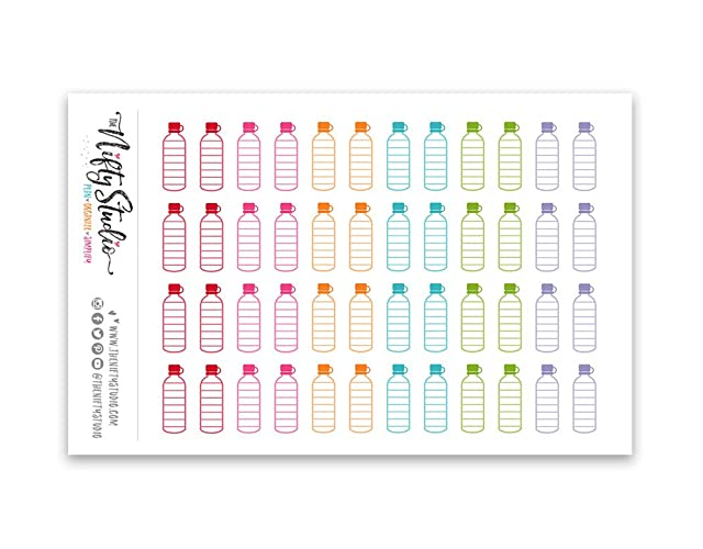 Opdateret Amazon.com: Water Bottle Stickers | Hydrate, Water Tracking UV37