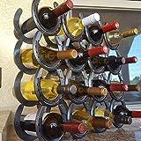 Horseshoe Wine Bottle Holder - 16 Bottles - The Heritage Forge