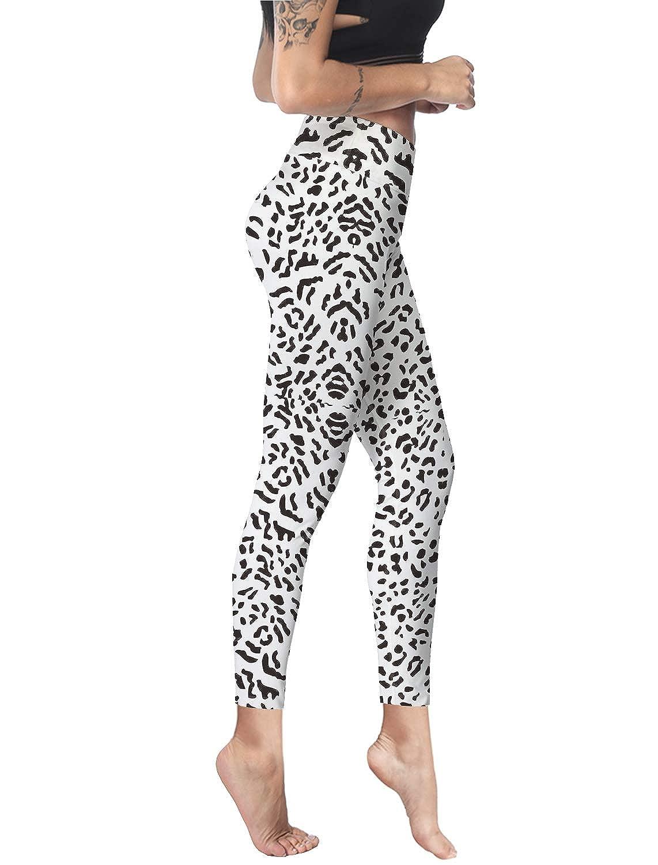 Women Stretch High Waist Yoga Pants Running Tights Animal Leopard Print Capris Compression Workout Leggings