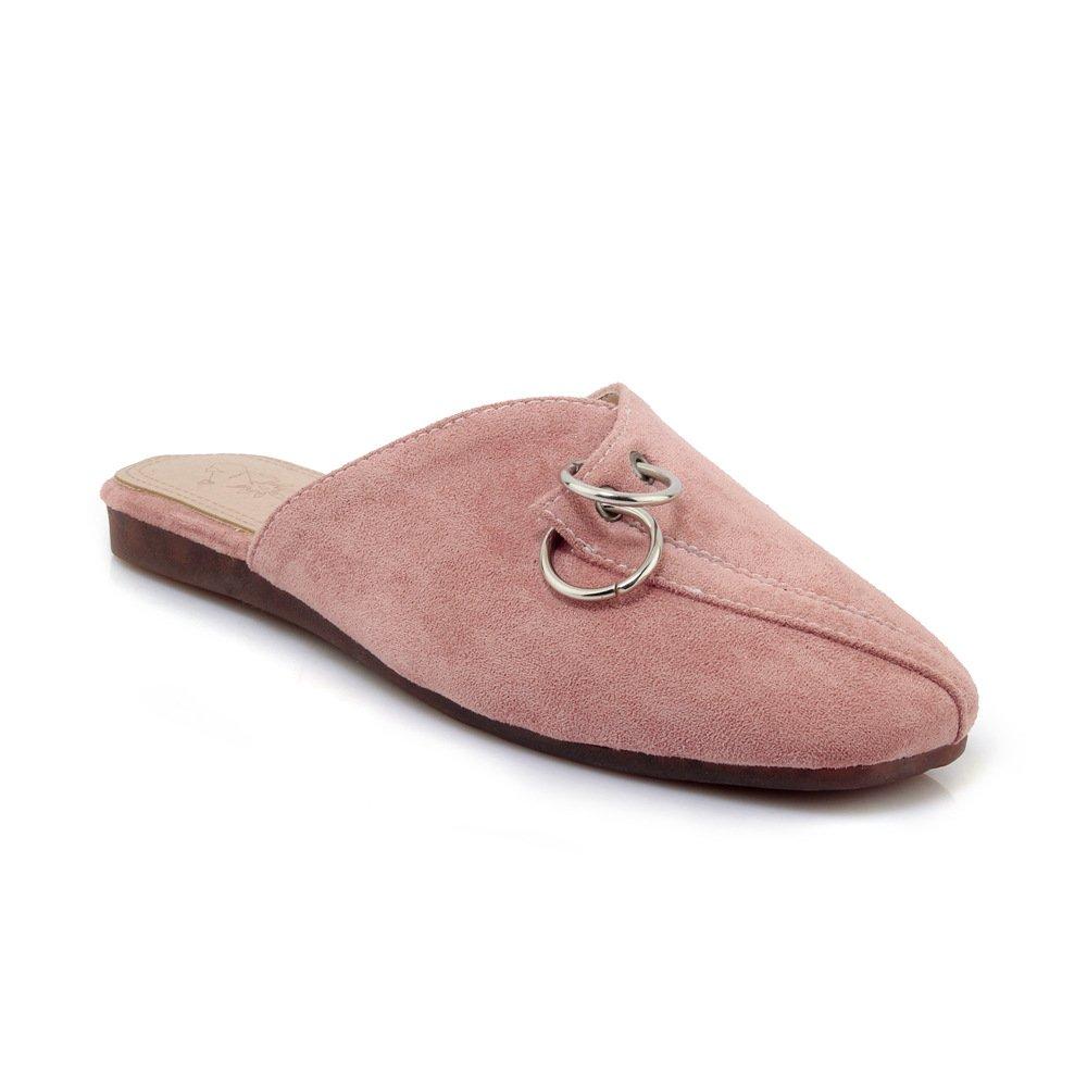 Unbekannt Sandalen Flop Damen Vintage Quadratischen Kopf Flach Groß Flip Flop Sandalen Rosa 36 a1d3fe