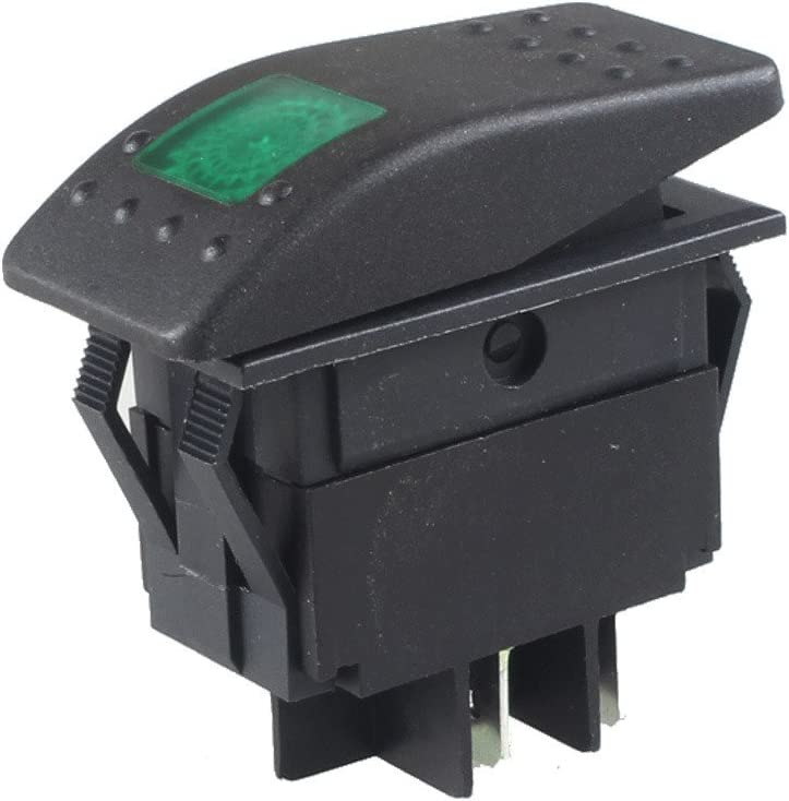 Mintice/™ Car Marine Offroad Vehicle Green LED Light Lamp Button Toggle Switch Dash 4Pin Housing Holder