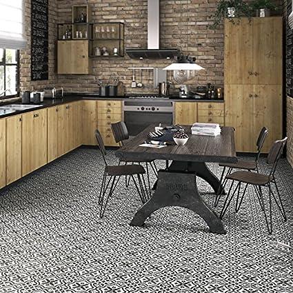 Amazon.com: SomerTile 17.625x17.625-inch Tudor Charcoal Ceramic ...