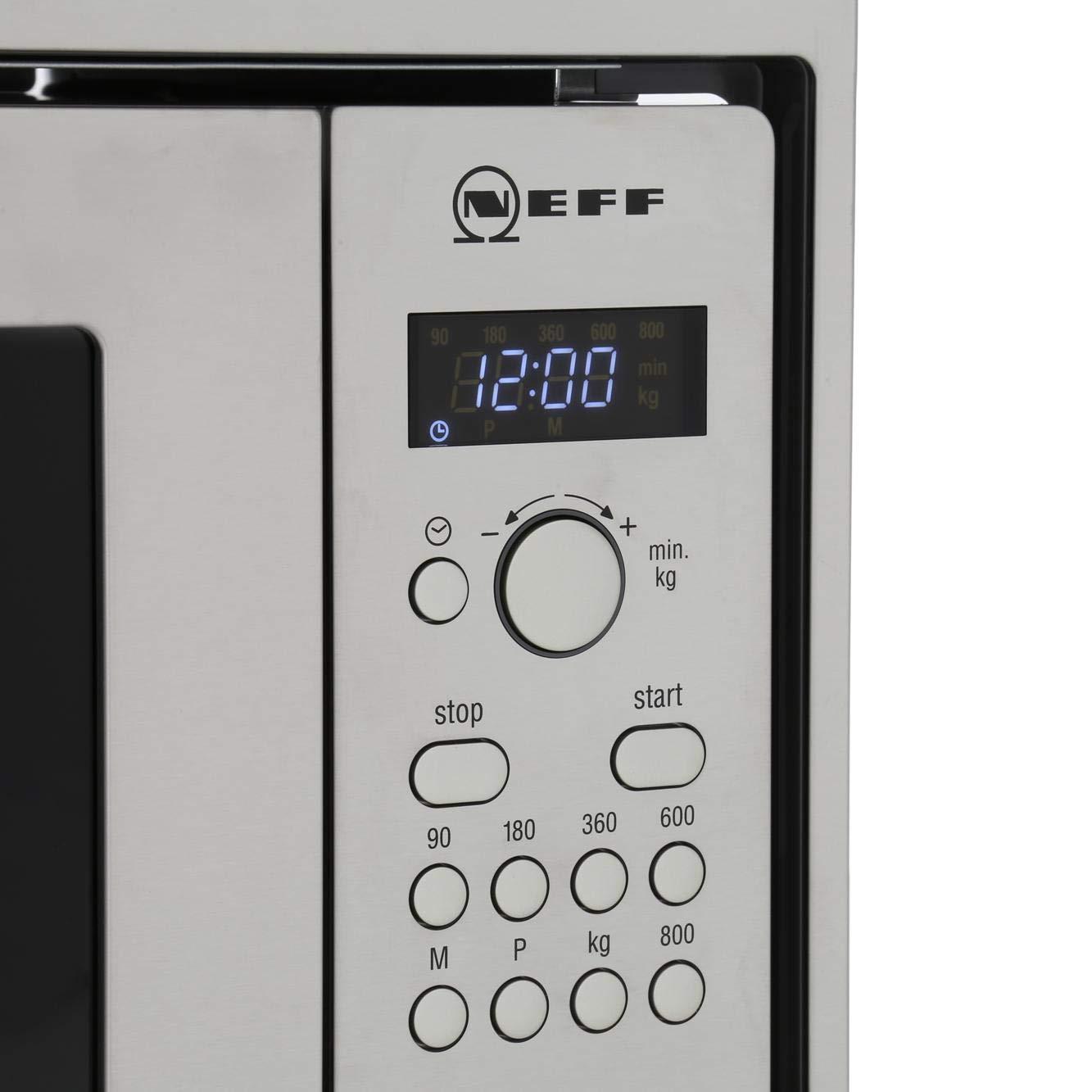 Neff H53W50N3GB Integrado 800W Acero inoxidable - Microondas ...