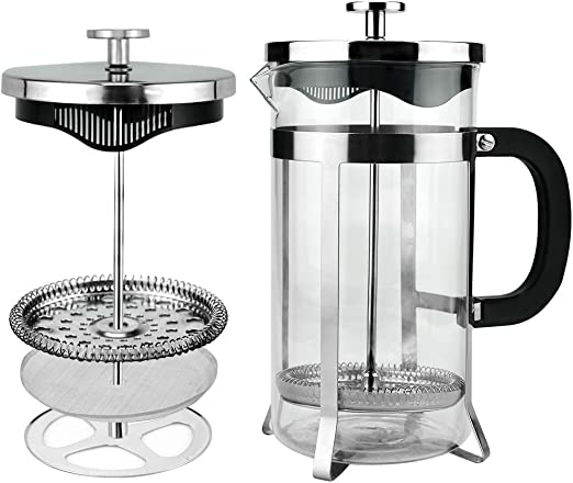 Cafetiere A Piston INOX Presse Fran/çaise Manuelle Portable Pot Cafeti/ère Filtre Pot M/énage Machine /À Caf/é Cafeti/ère Percolateur Outil