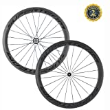 Superteam 700c 50mm 3K mattle Carbon Clincher Wheelset Cycling Racing Wheels 20/24h