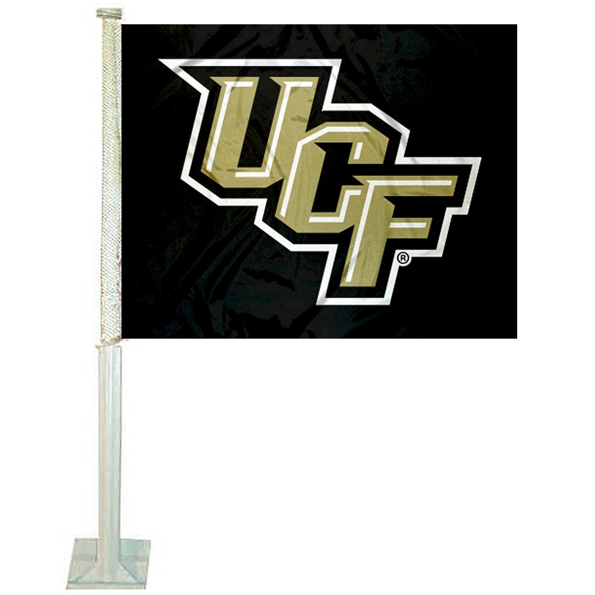 College Flags and Banners Co. Central Florida Knights Stacked UCF Car Flag