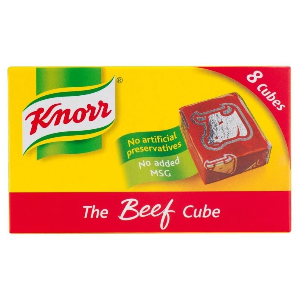 Knorr Stock Cubes Beef (8x10g) - Pack of 2