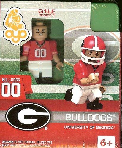 Université de Georgia Bulldogs College Football Oyo Mini Figure Lego Compatible Autorisée NCAA