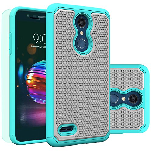 Moto G7 Case Huness Durable Armor and Resilient Shock Absorption Case Cover for Motorola Moto G7/G7 Plus Phone (Mint2)