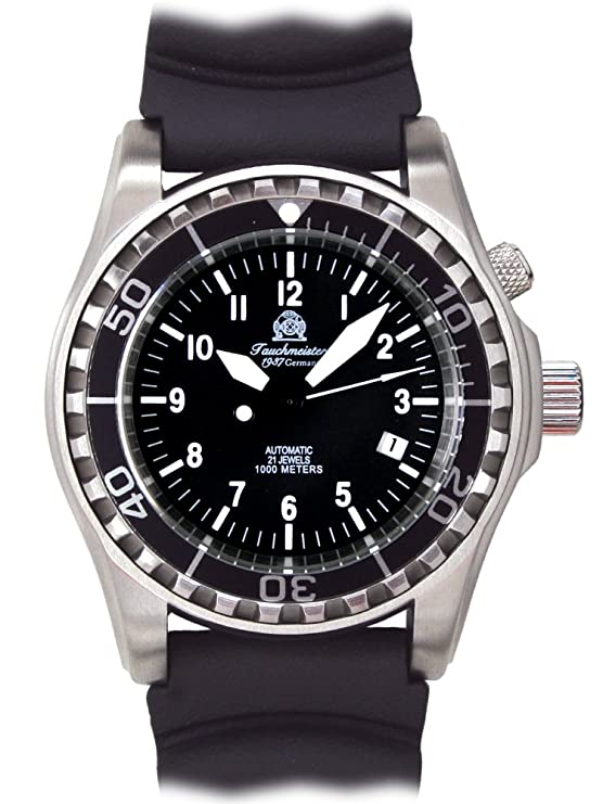 Amazon.com: Tauchmeister automatic diver watch sapphire glass T0287: Watches