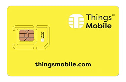 SIM Card for IOT and M2M - Things Mobile - with Global Coverage Without  Fixed Costs  Ideal for Home Automation, GPS Tracker, Telemetry, Alarms,  Smart