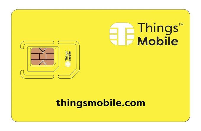 Tarjeta SIM Things Mobile de Prepago para IOT y M2M con Cobertura Global sin costos fijos. Ideal para domótica, rastreadores GPS, telemetría, alarmas, ...