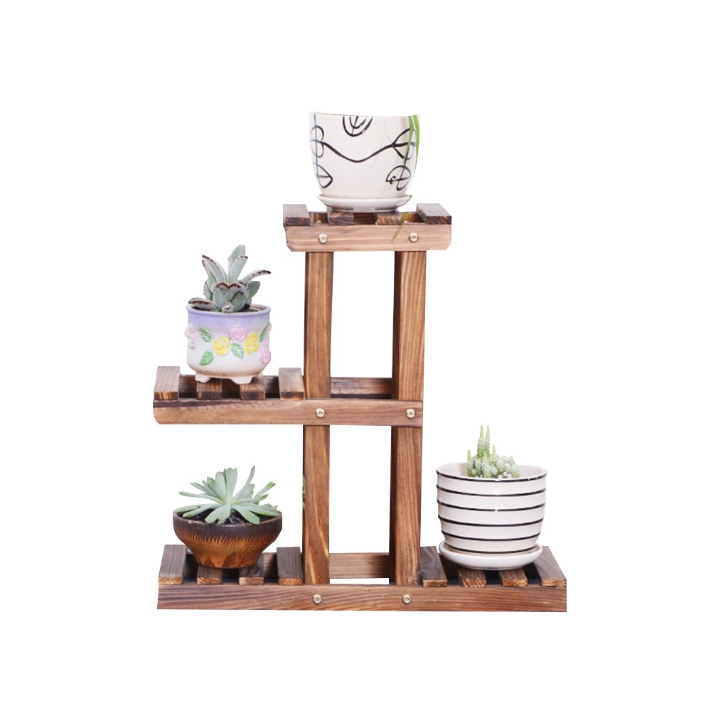 CSQ Solid Wood Plant Stand, Small Potted Plants Succulent Plants Desktop Shelf Study Office Bedroom Vintage Design 502047CM Flower Shelf
