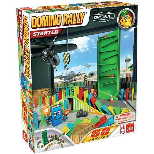 (Domino Rally Starter Set 60 multi-colored Zigzag tower with slalom ball)