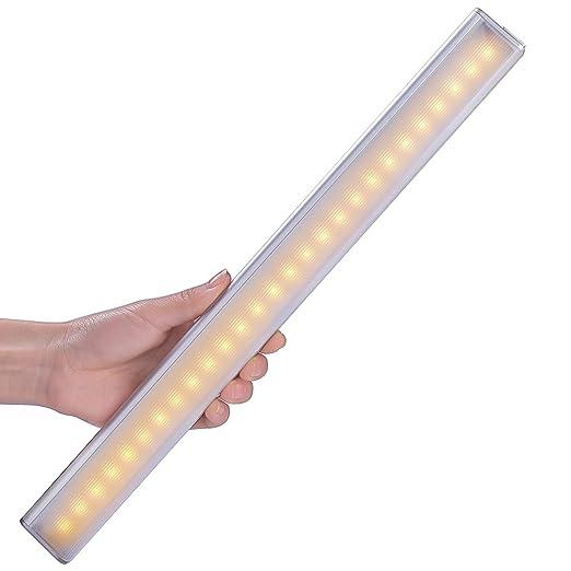 259 opinioni per Luce per Armadio, LOFTer Luce Notte a 27 LED Ricaricabile con Sensore di