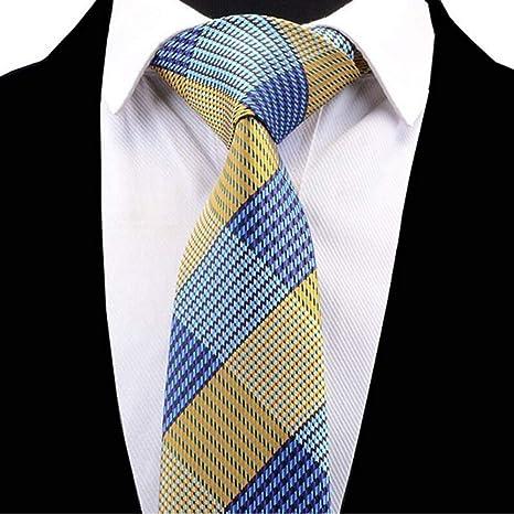 KYDCB Nuevo diseño de los Hombres de Moda a Cuadros Corbata ...