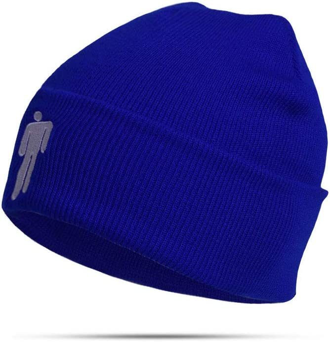 An Ostrich Knitted Winter Hat Solid Hip-Hop Skullies Knitted Hat Cap Costume Accessory Gifts Warm Winter 7 Colours,Blue