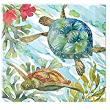 Punch Studio Dining Party Decorative Paper Napkins Sea Life - Oceana (Luncheon)
