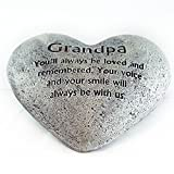 Heart Shaped Memory Stone for Grandpa