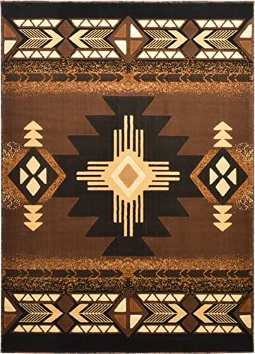 Western Essence Rugs 4 Less Collection Southwest Native American Indian Area Rug Design Brown Chocolate 318 8 x10