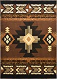 Rugs 4 Less Collection Southwest Native American Indian Area Rug Design R4L 318 Brown Chocolate (8'x10')