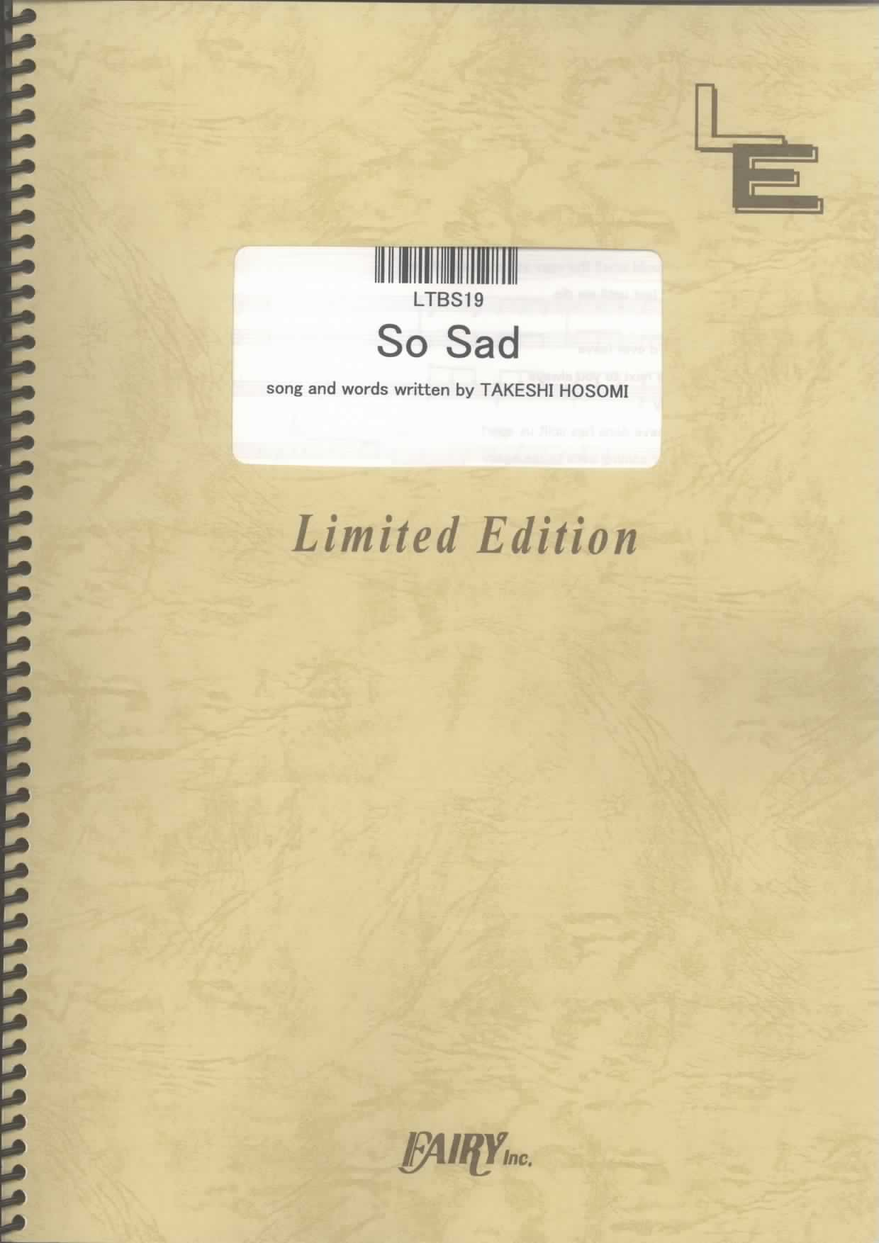 So Sad by ELLEGARDEN LTBS19 pdf