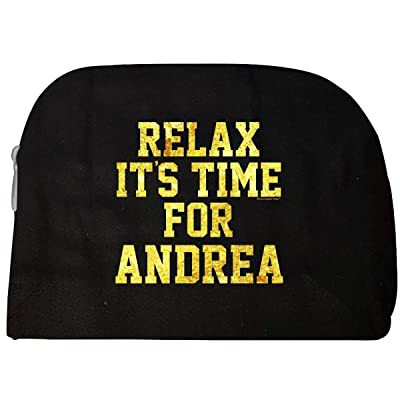 Relax Its Time For Andrea. Fun Gift Idea - Cosmetic Case