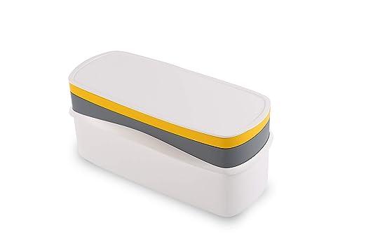 Juego de 4 utensilios de cocina apilables para microondas: Amazon ...