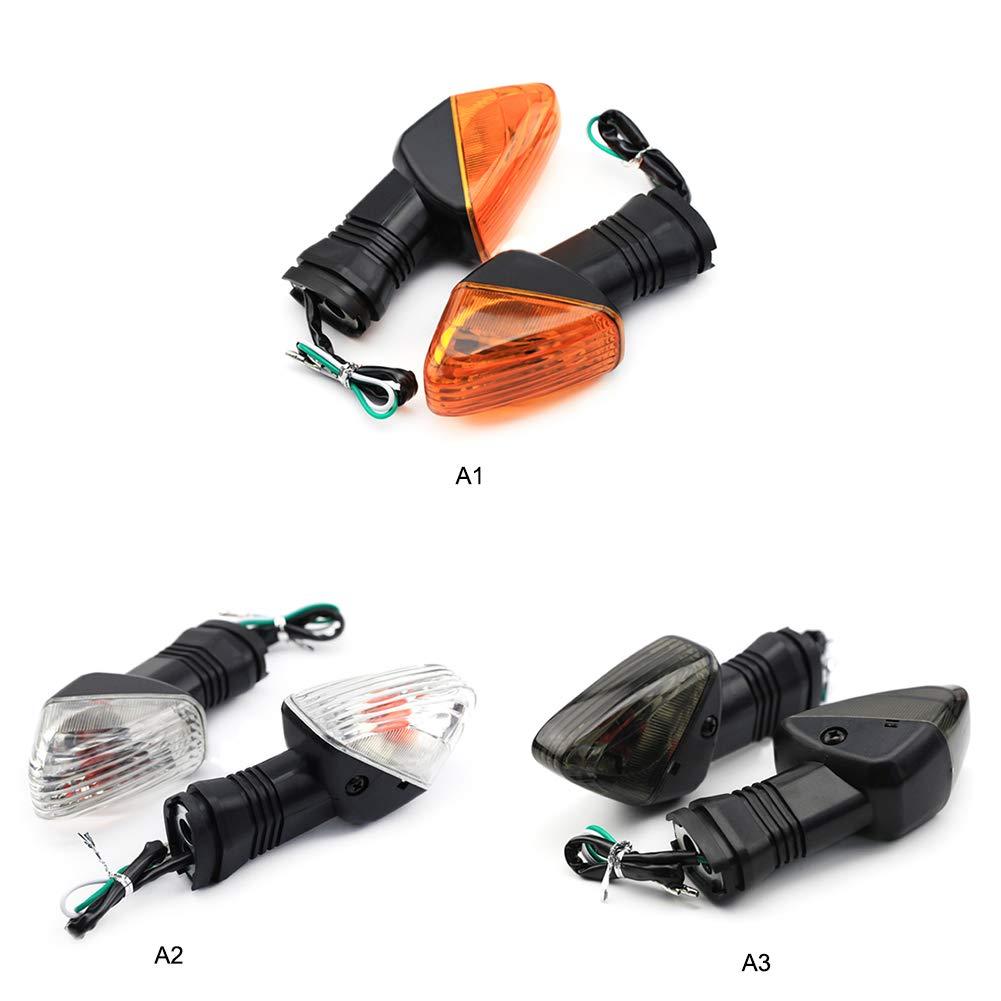 Asdomo 2 luces indicadoras de señal de giro para Kawasaki ZX ...